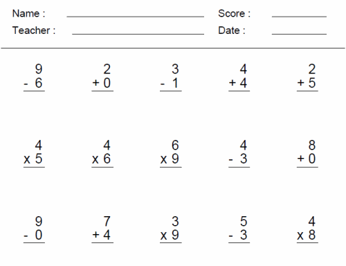 Math Worksheets Grade 4 Davezan – Subtraction Worksheet Grade 1